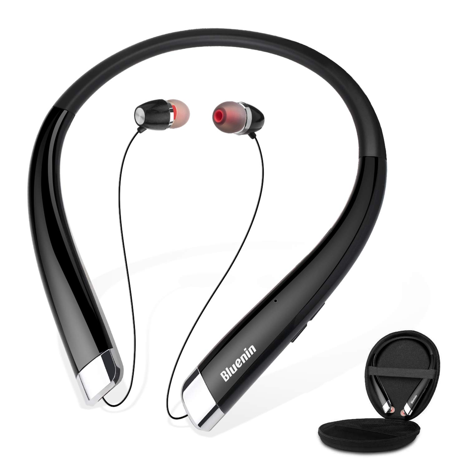 Bluenin 990 Bluetooth Headphones with Auto Retractable Earbuds